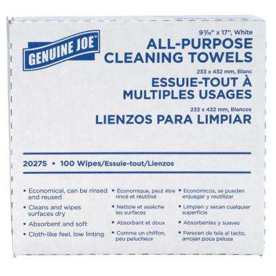 16.50 in. x 9.50 in. All-Purpose Cleaning Towels (100-Sheet/Box)