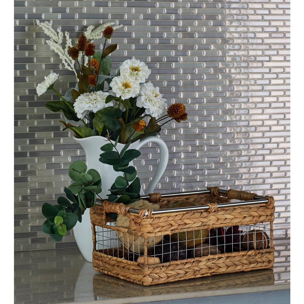 Rectangular Wicker Baskets (Set of 4)