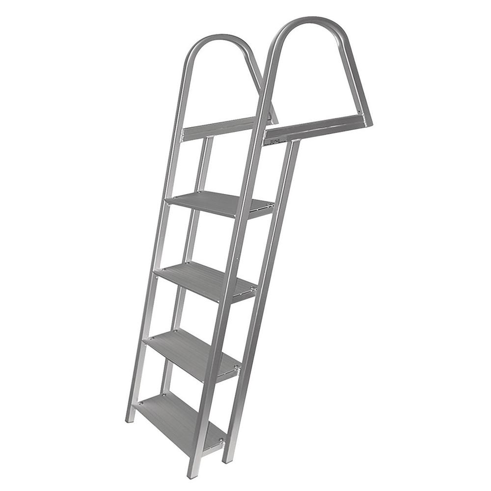 Tommy Docks 4-Step Angled Aluminum Ladder with Mounting Hardware