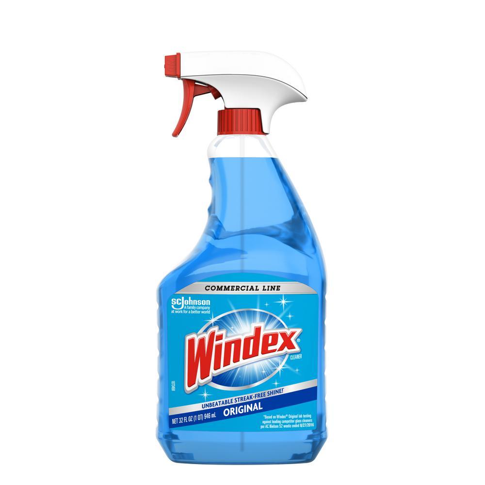 windex commercial line 32 oz trigger bottle original glass cleaner 308534 the home depot. Black Bedroom Furniture Sets. Home Design Ideas