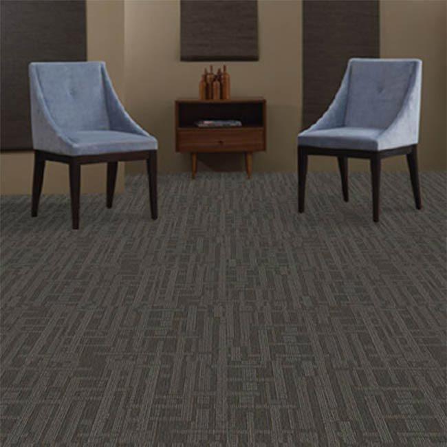 J&J Industries PLANNER Grey 24 in. x 24 in. Modular Carpet Tile kIT(18 Tiles & 1 packet TileTabs Connectors)-DISCONTINUED