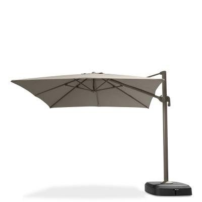 Portofino Comfort 10 ft. Resort Cantilever Patio Umbrella in Espresso Taupe