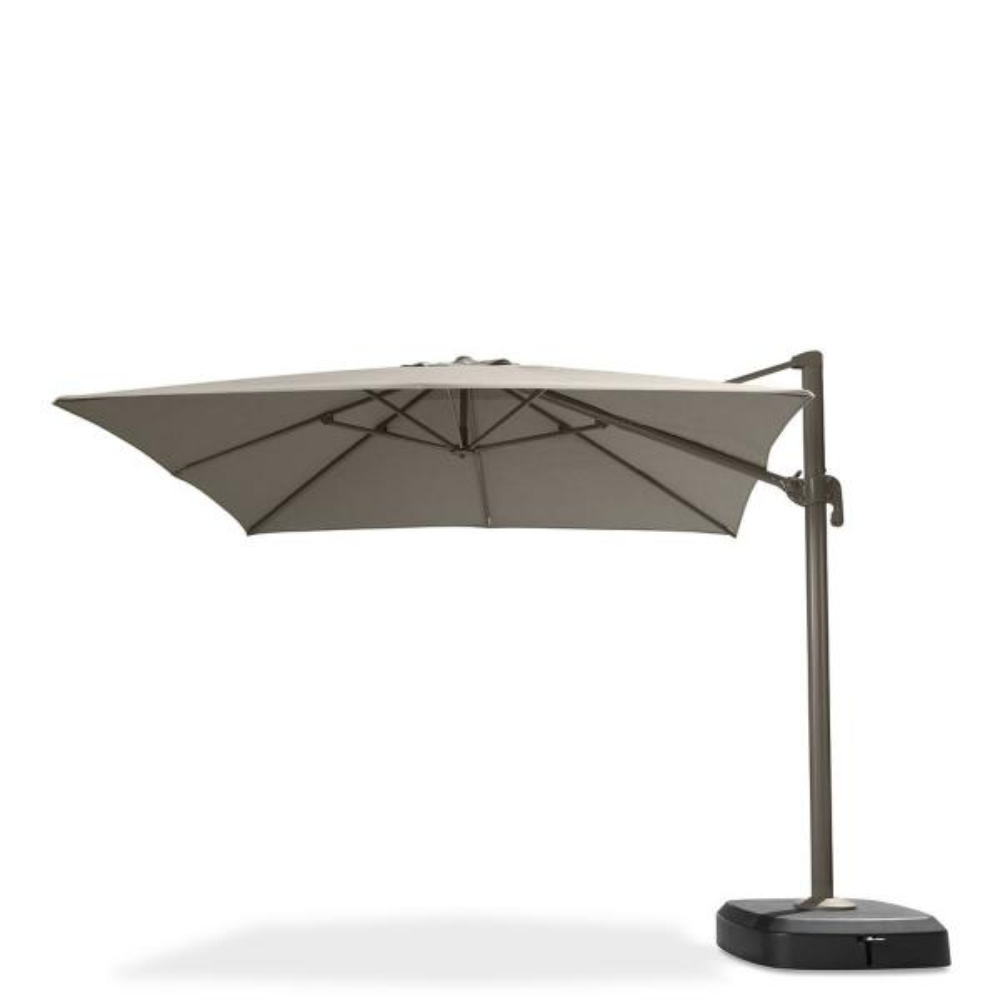 Portofino Comfort 10 ft. Resort Cantilever Patio Umbrella in Espresso Taupe