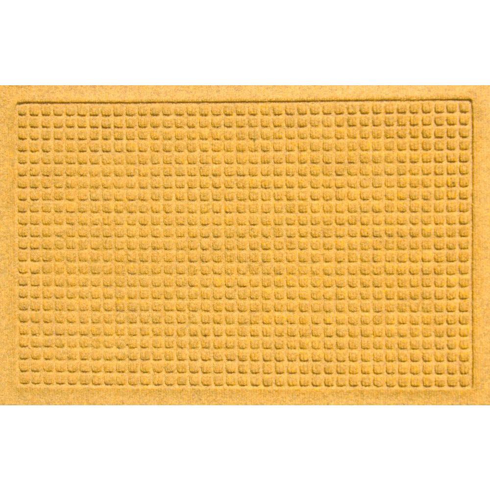 Bungalow Flooring Aqua Shield Squares Yellow 17.5 in. x 26.5 in. Door Mat