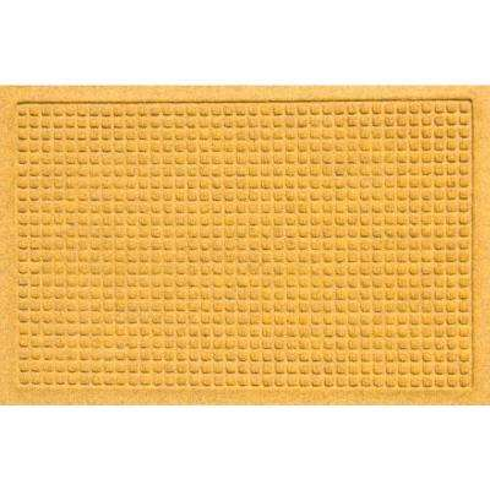 Aqua Shield Squares Yellow 17.5 in. x 26.5 in. Door Mat