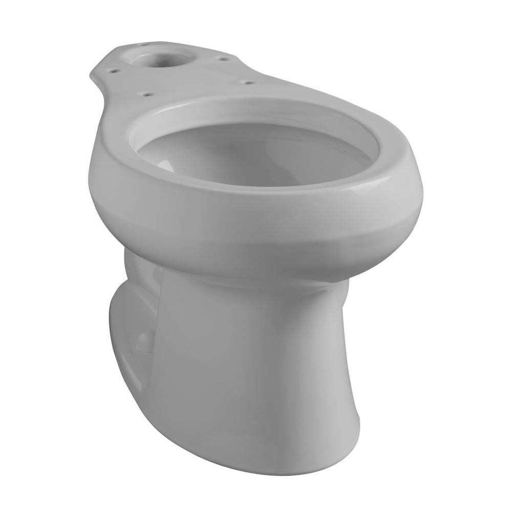 Kohler Wellworth Round Front Toilet Bowl Only In Ice Grey