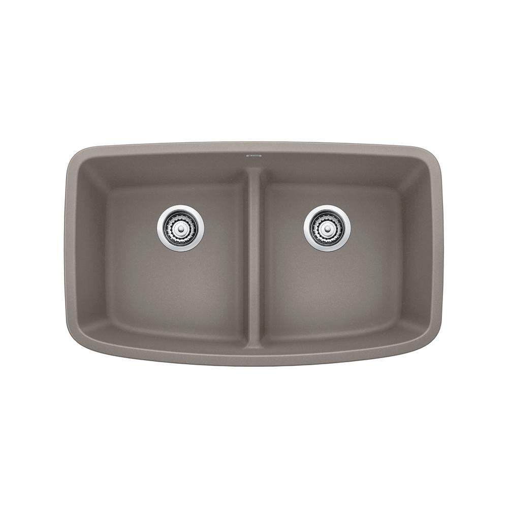Blanco valea undermount granite composite 32 in equal - Undermount granite composite kitchen sink ...