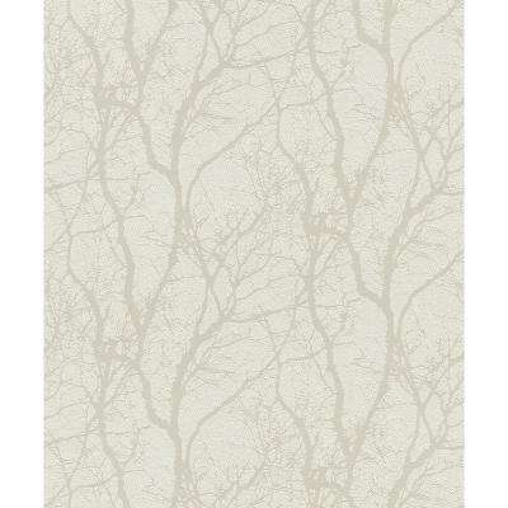 56.4 sq. ft. Wiwen Off-White Tree Wallpaper