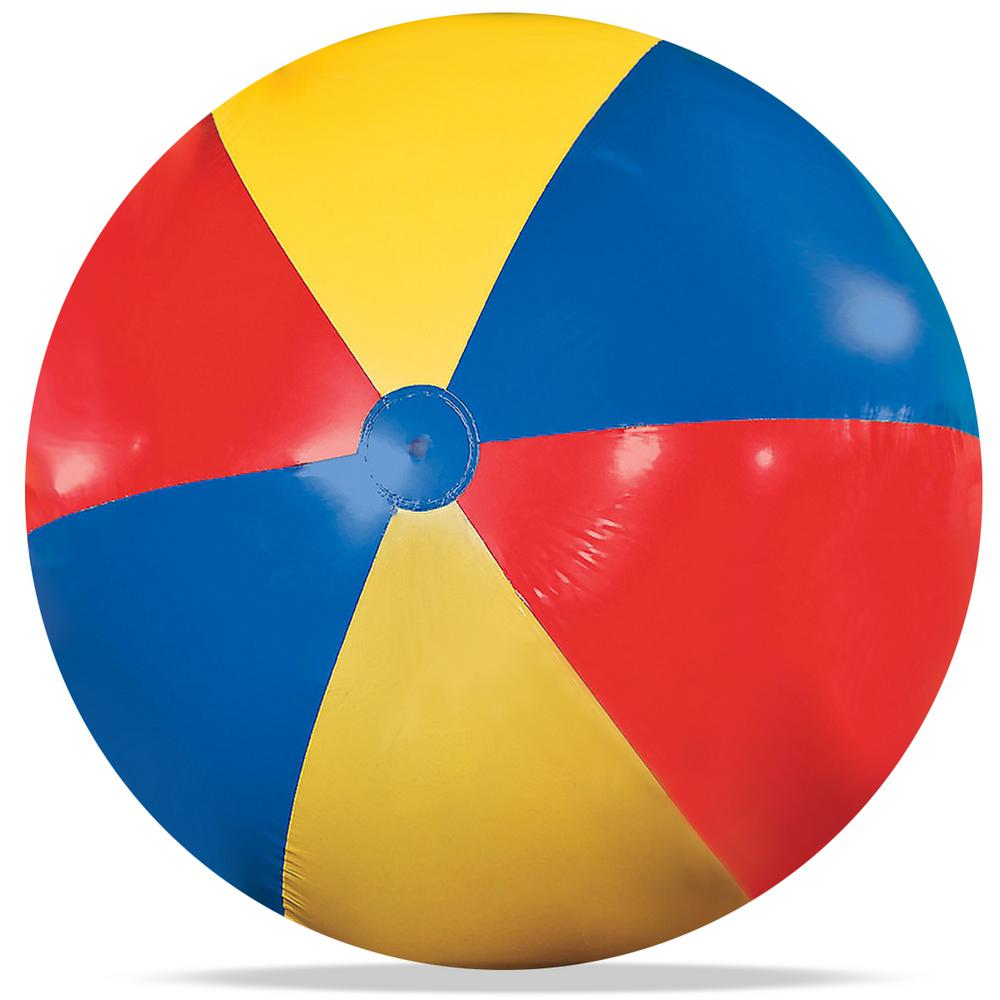 Excellent Novelty Place Giant Jumbo 5 Ft 60 In Inflatable Beach Ball Pool Toy For Kids And Adults Theyellowbook Wood Chair Design Ideas Theyellowbookinfo