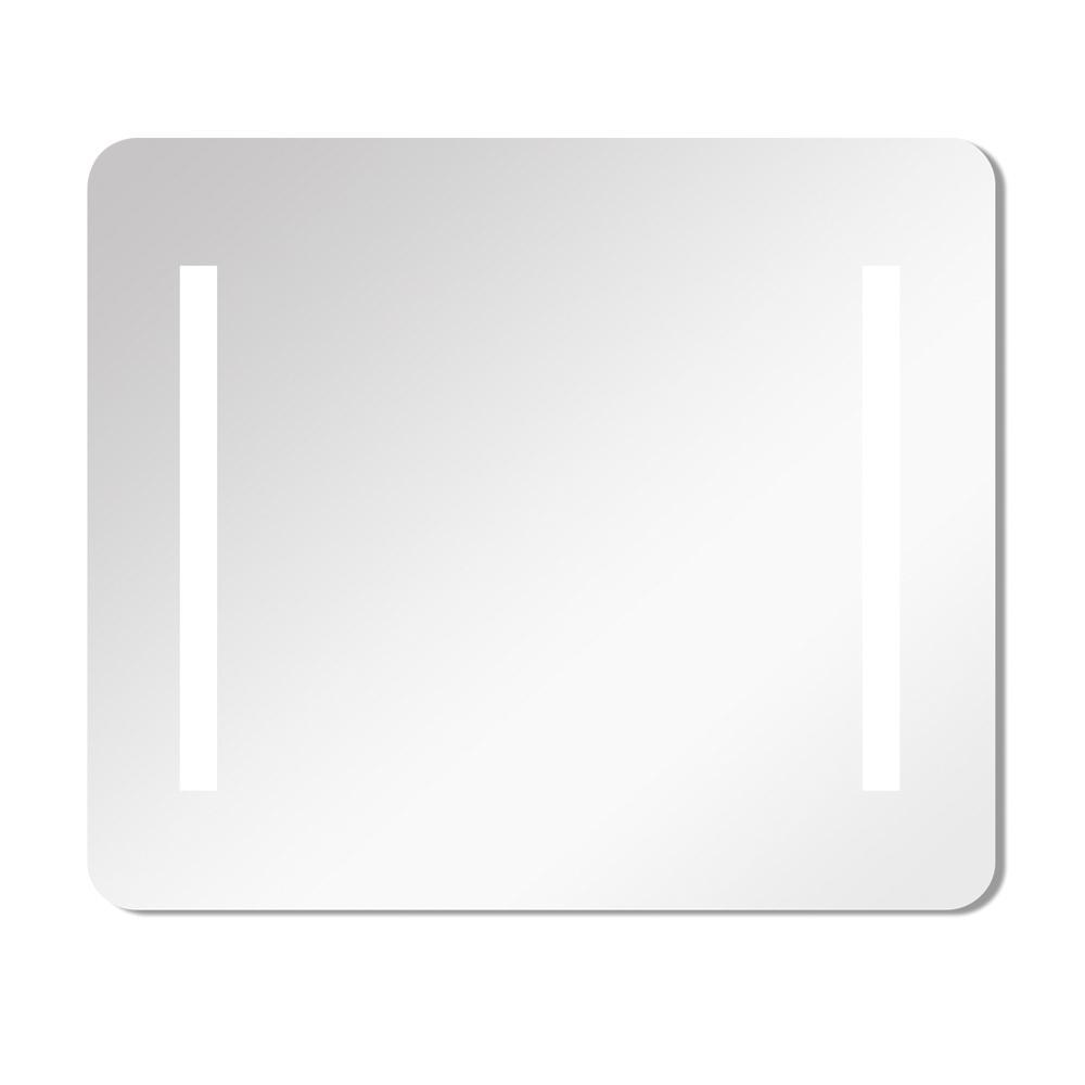 Veda 35.43 in. x 29.53 in. Single Frameless LED Mirror