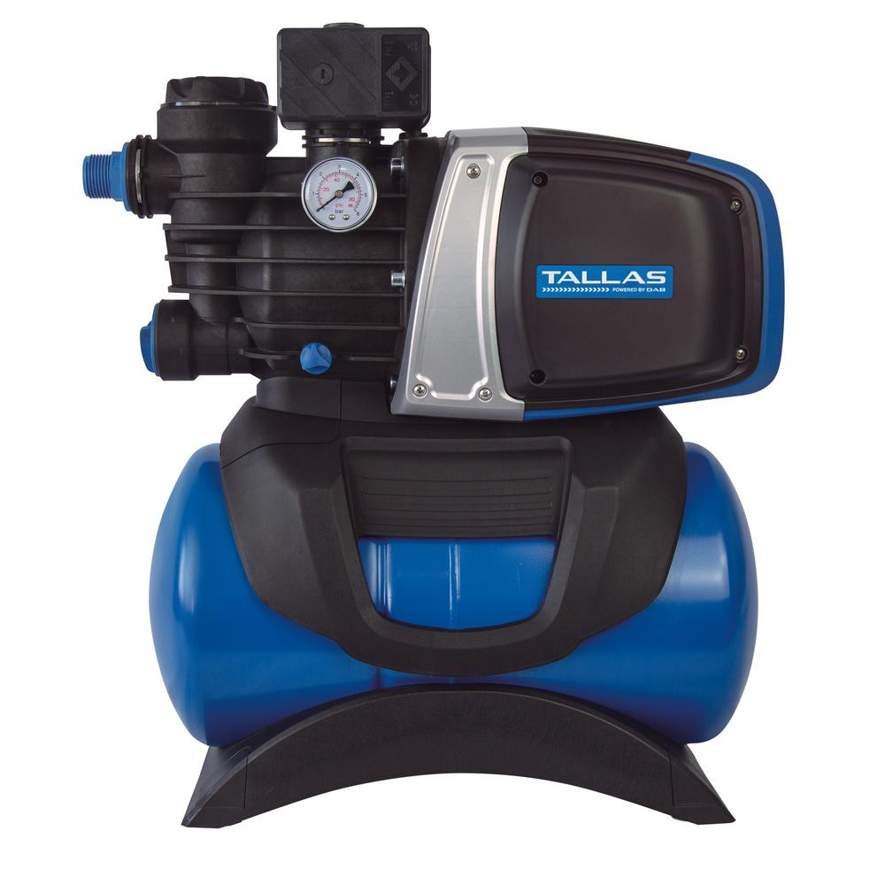 TALLAS TALLAS 3/4 HP 115-Volt Pressure Switch Controlled Shallow Well 18 L Tank Jet Pump
