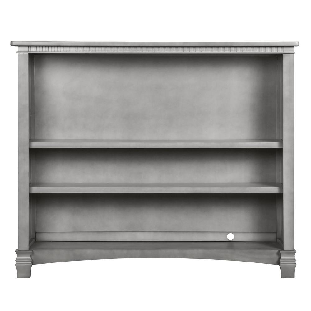 Santa Fe Storm Grey Adjustable Shelf Bookcase