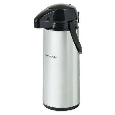 12-Cup Stainless Steel Coffee Urn Dispenser with Carry Handle