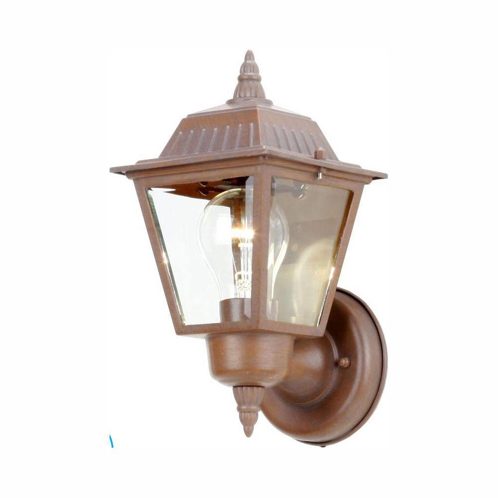 Hampton Bay 1-Light Rustic Bronze Outdoor Wall Lamp