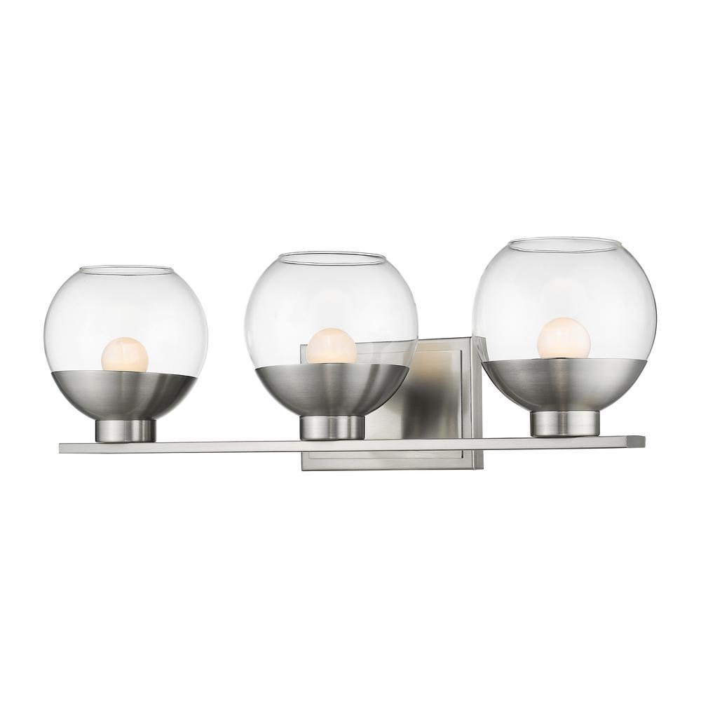 Persis Brushed Nickel 8-Watt Integrated LED Bath Light