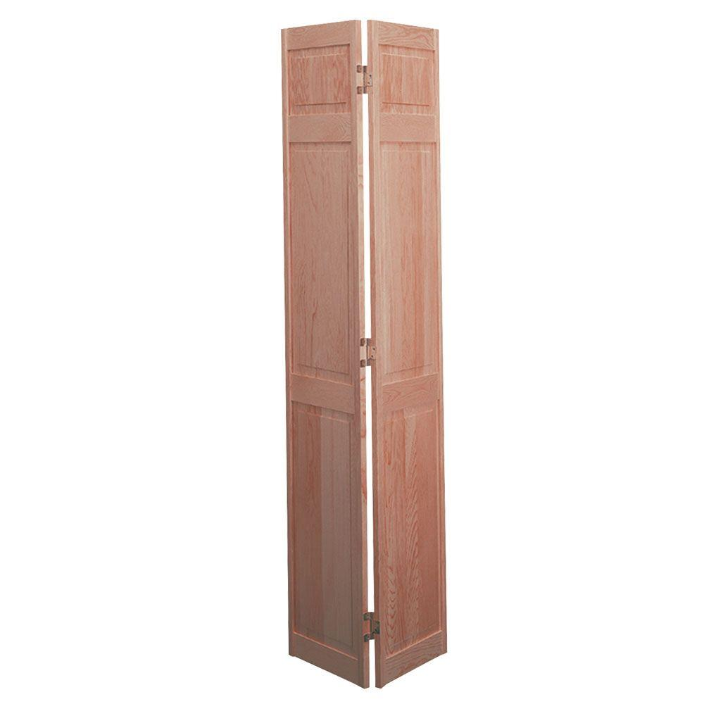 Masonite 30 in. x 80 in. 6-Panel Solid-Core Smooth Unfinished Pine ...