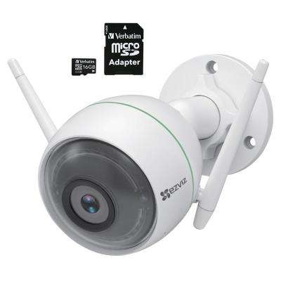C3WN 1080p Outdoor Bullet Wi-Fi Full HD Security Camera with Smart Detection Zones with 16 GB microSDHC Card and Adapter