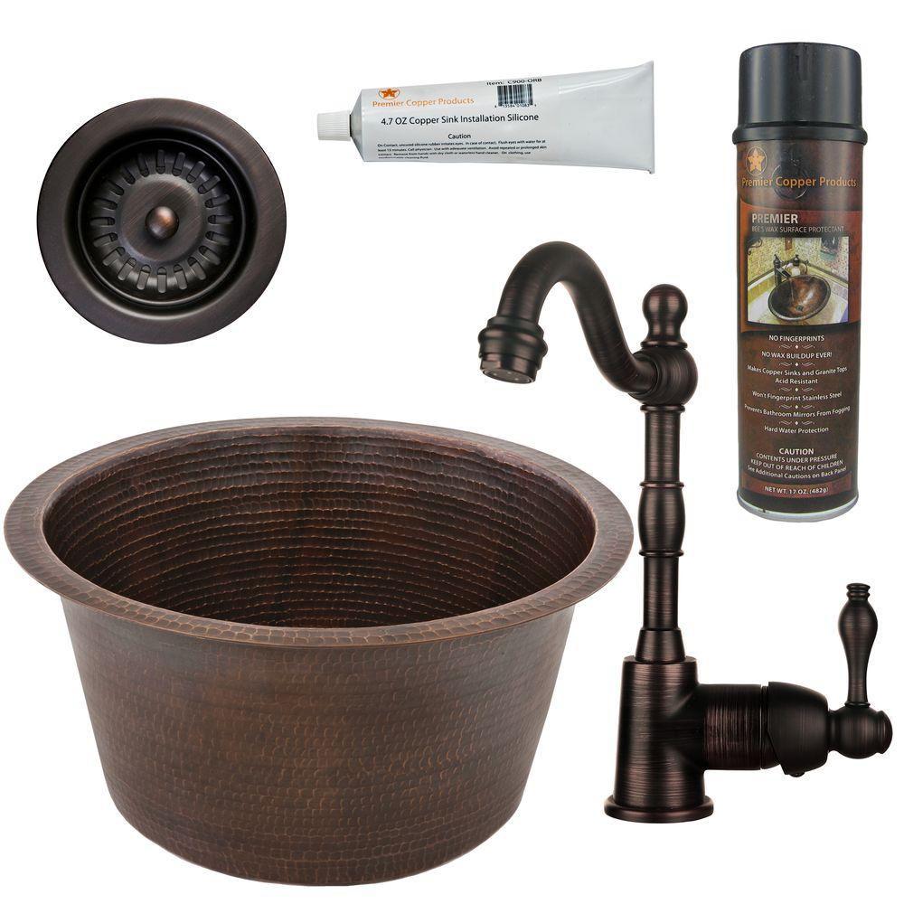 Premier Copper Products All In One Dual Mount Copper 17 In