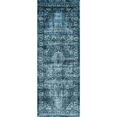Concept Blue 3 ft. x 7 ft. Runner
