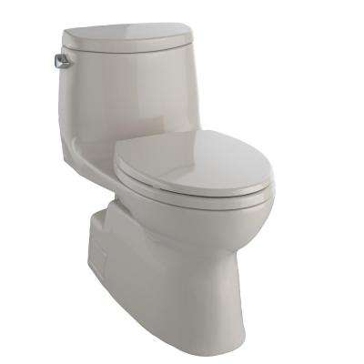 Carlyle II 1-Piece 1.28 GPF Single Flush Elongated Skirted Toilet with CeFiONtect in Bone