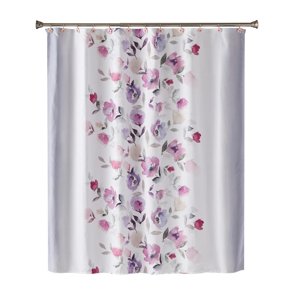 SKL Home Garden Mist 72 in. Shower Curtain In Purple