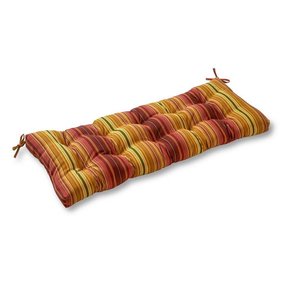Kinnabari Stripe Rectangle Outdoor Swing/Bench Cushion