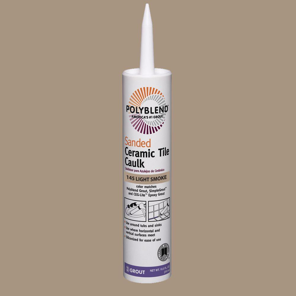 Polyblend #145 Light Smoke 10.5 oz. Sanded Ceramic Tile Caulk