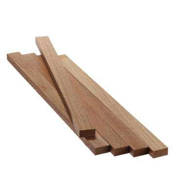 1 in. x 2 in. x 2 ft. FAS Mahogany S4S Board (5-Pack)