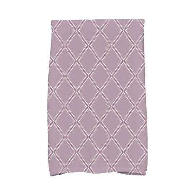 16 in. x 25 in. Lavender Diamond Dots Holiday Geometric Print Kitchen Towel