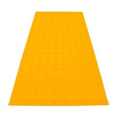 PowerBond 24 in. x 4 ft. Federal Yellow ADA Warning Detectable Tile (Peel and Stick)