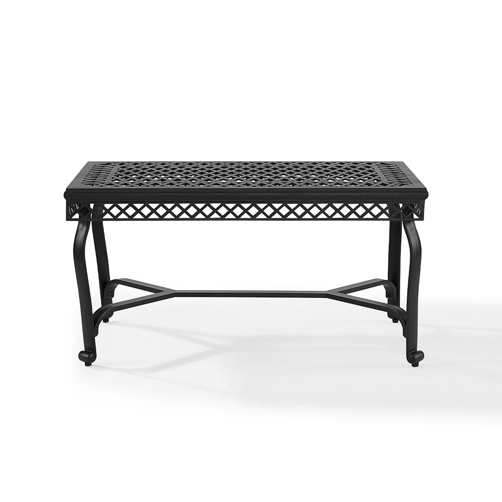 Aluminum Patio Coffee Table: Crosley Portofino Cast Aluminum Outdoor Coffee Table