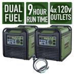 Sportsman Dual Fuel Powered Recoil Start Portable Digital Generator Kit