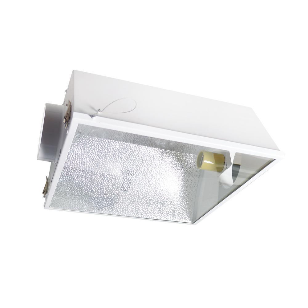 Hydro Crunch Large Air Cooled with 6 in. Duct and Glass Panel Grow Light Reflector for up to 1000-Watt