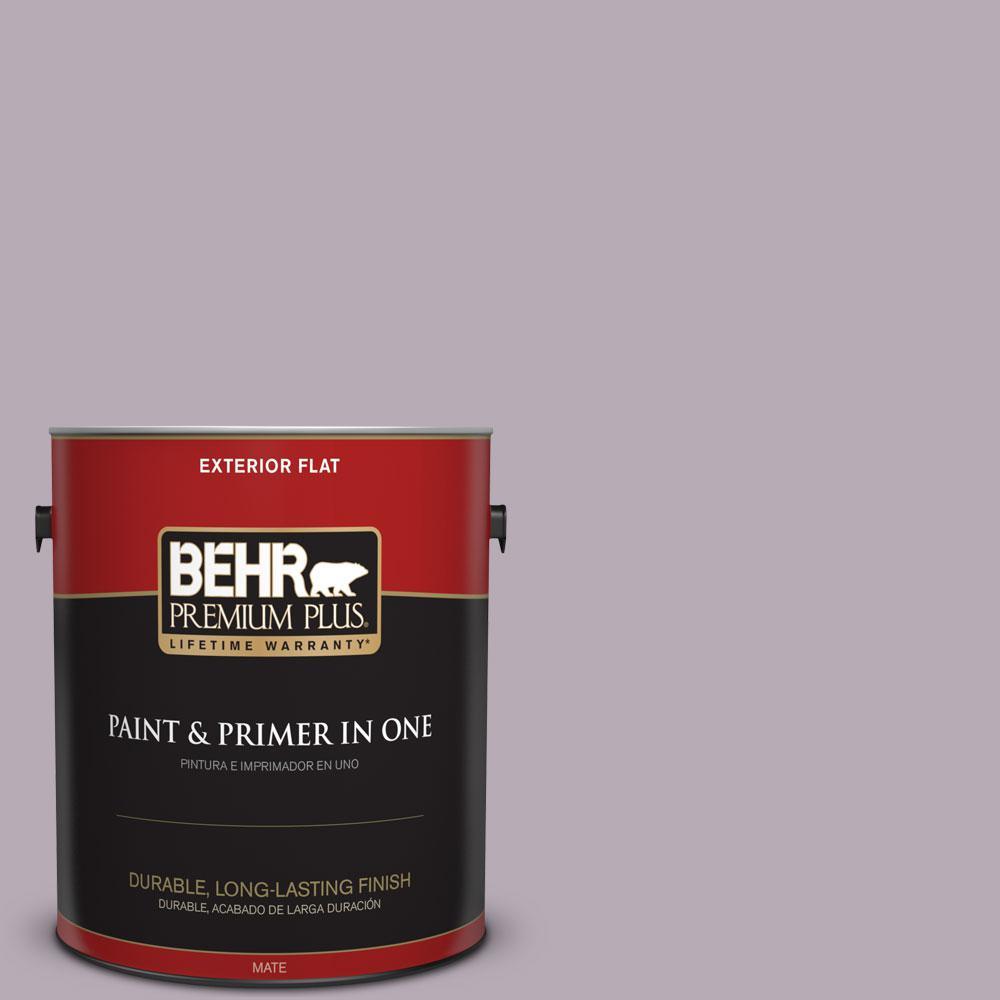BEHR Premium Plus 1-gal. #670F-4 Silverberry Flat Exterior Paint, Purples/Lavenders