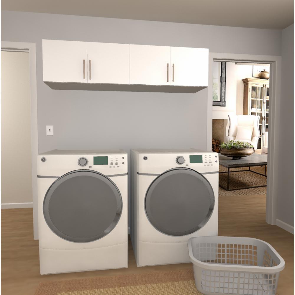 Horizon 15 in H x 60 in. W White Laundry Cabinet Kit