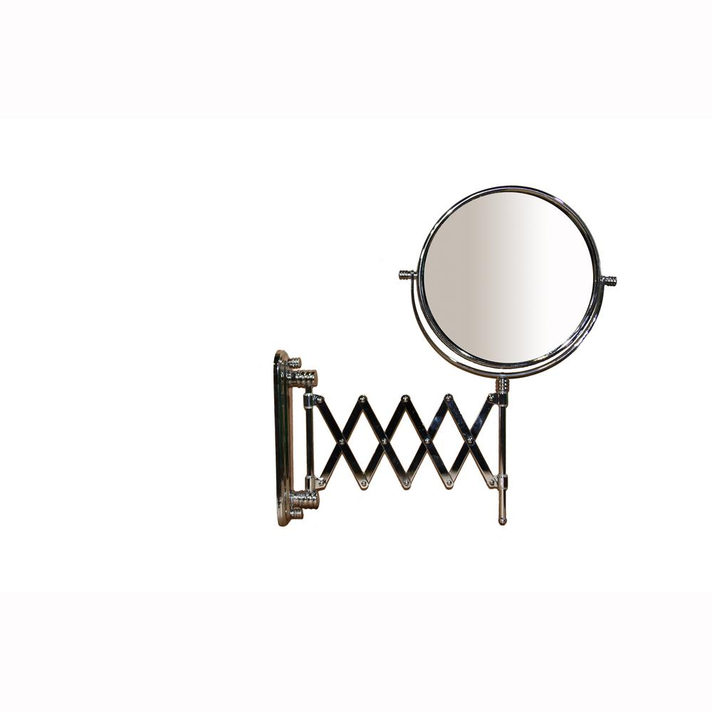 ORE International 17.5 in. Accordion Round X7 Magnify Makeup Mirror