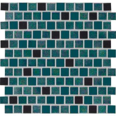 Carribean Mermaid 11.81 in. x 11.81 in. x 4 mm Glass Mesh-Mounted Mosaic Tile (19.4 sq. ft. / case)