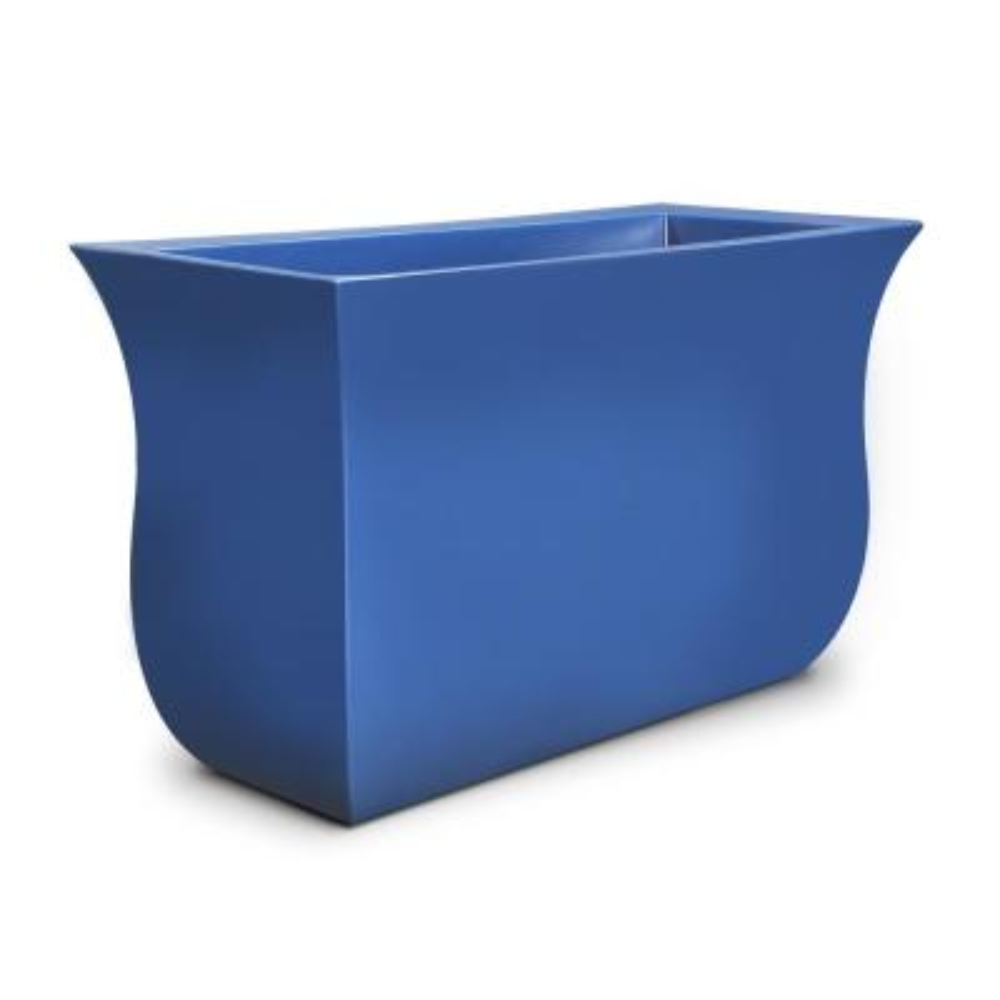 Valencia 36 in. x 16 in. x 22 in. Neptune Blue Long Polyethylene Planter