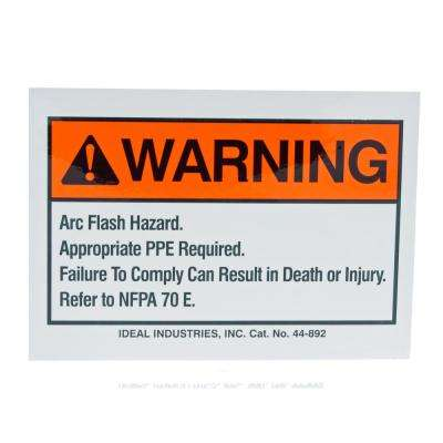 3-1/2 in. x 5 in. NEC Arc Flash Adhesive (Pack of 100)