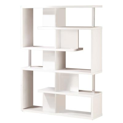 72 in. Cappuccino Wood 3-shelf Ladder Bookcase with Open Back