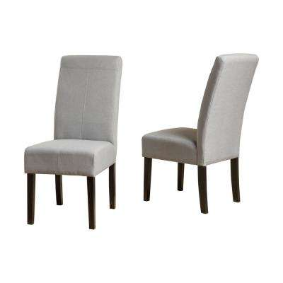 Pertica Light Grey Fabric T-Stitch Dining Chairs (Set of 2)