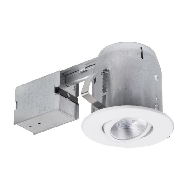 5 in. New Construction and Remodel Recessed Kit LED Bulb Included