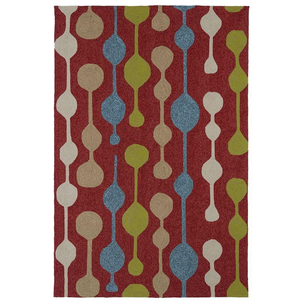 Kaleen Home and Porch Red 7 ft. 6 in. x 9 ft. Indoor/Outdoor Area Rug