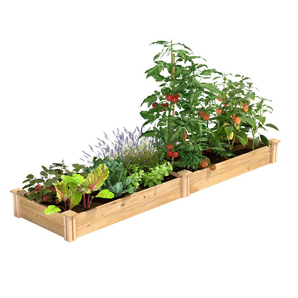 2 ft. x 8 ft. x 7 in. Original Cedar Raised Garden Bed