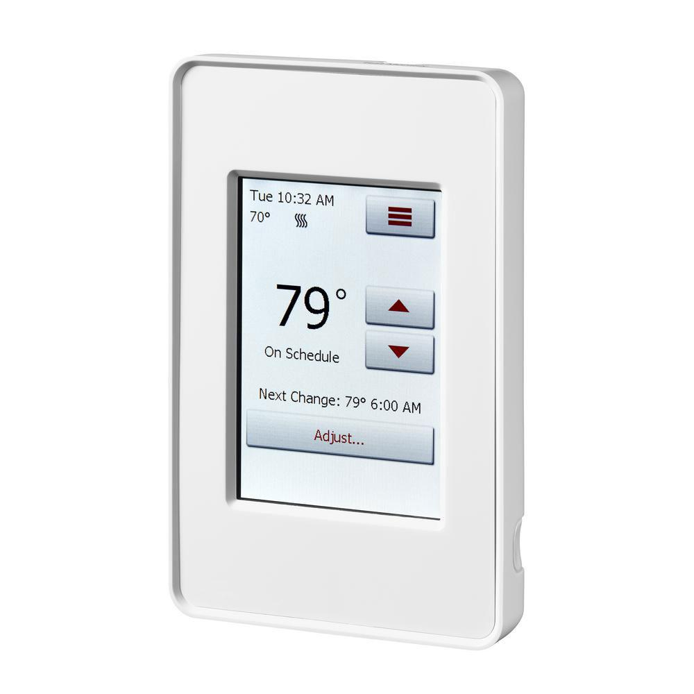 QuietWarmth 120-Volt/240-Volt Programmable WIFI Enabled Smart Touch Thermostat with Floor Sensor