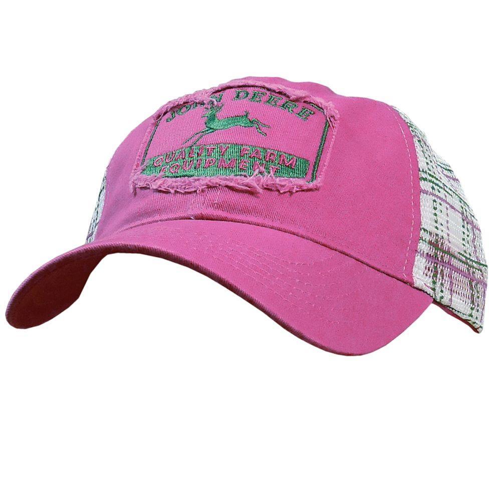 John Deere Distressed Vintage Plaid Cap / Hat