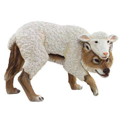 11 in. H Wolf in Sheep's Clothing Garden Statue