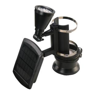 Nature Power Black Outdoor Solar Powered 4-LED Flagpole Light Deals