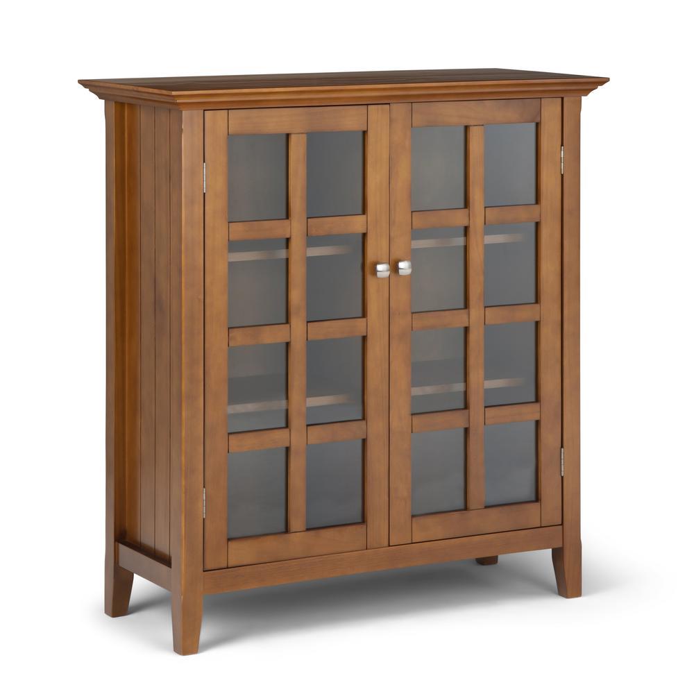 39 in. Acadian Honey Brown Solid Wood Wide Medium Storage Cabinet