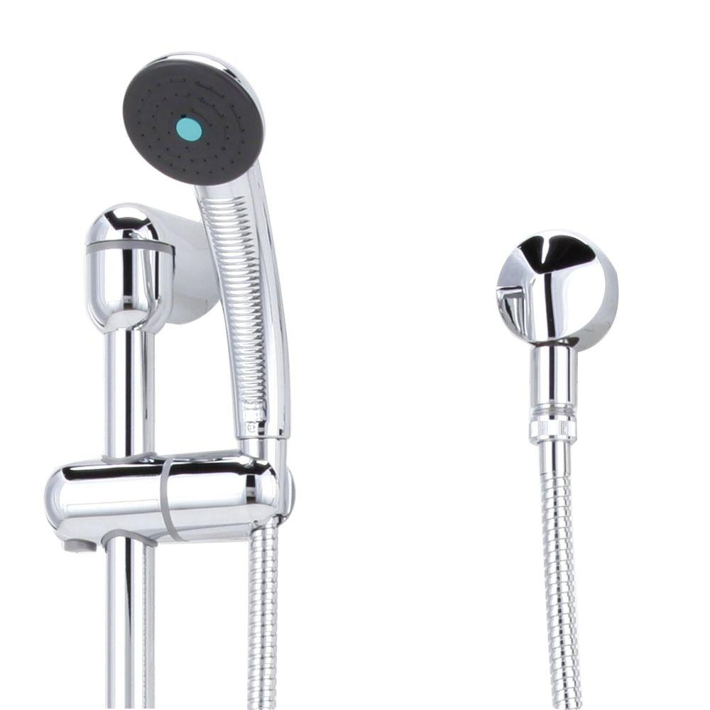 3-Spray Hand Shower and Shower System Kit in Chrome